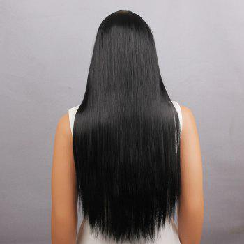 Perruque Synthétique Long Straight Neat Bang - Noir