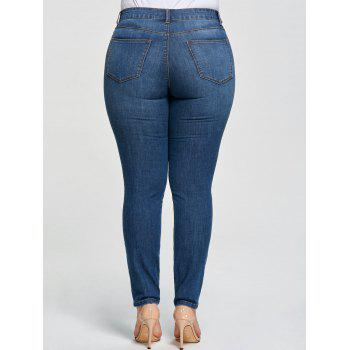 Plus Size Five Pockets Pencil Jeans - DENIM BLUE 2XL