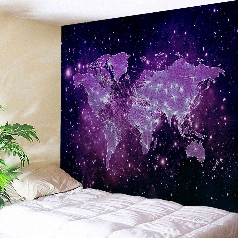 Galaxy World Map Print Tapestry Wall Hanging Art decorative wall hanging world map print tapestry