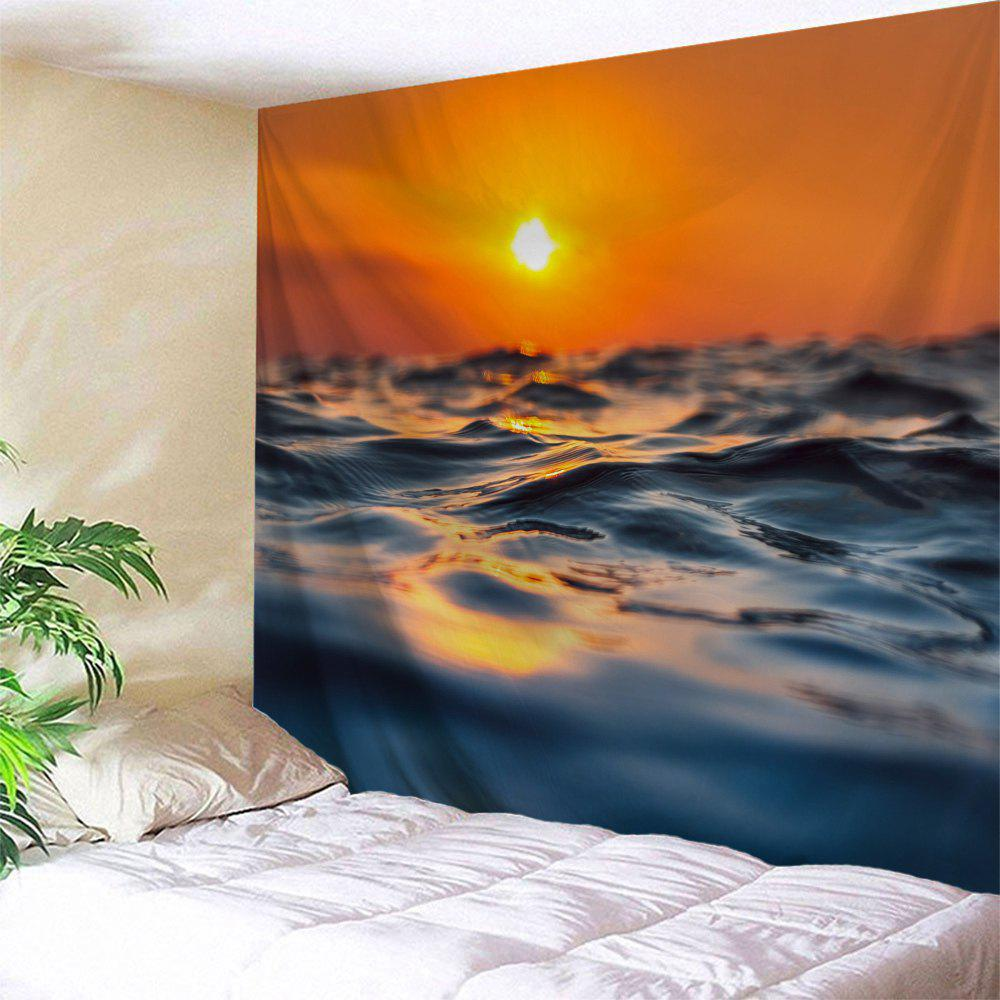 Sunset Ocean Print Tapestry Wall Hanging Art - COLORMIX W71 INCH * L91 INCH