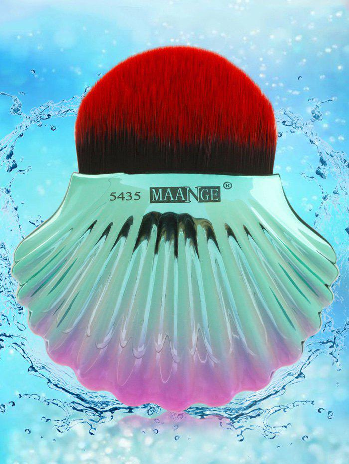 Two Tone Ocean Shell Plated Foundation Brush - BLACK RED