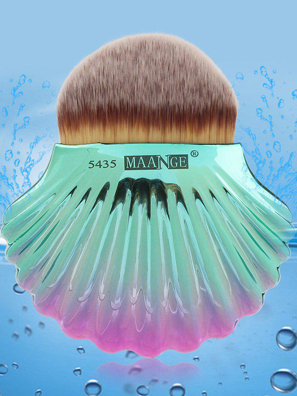 Two Tone Ocean Shell Plated Foundation Brush - GRAY