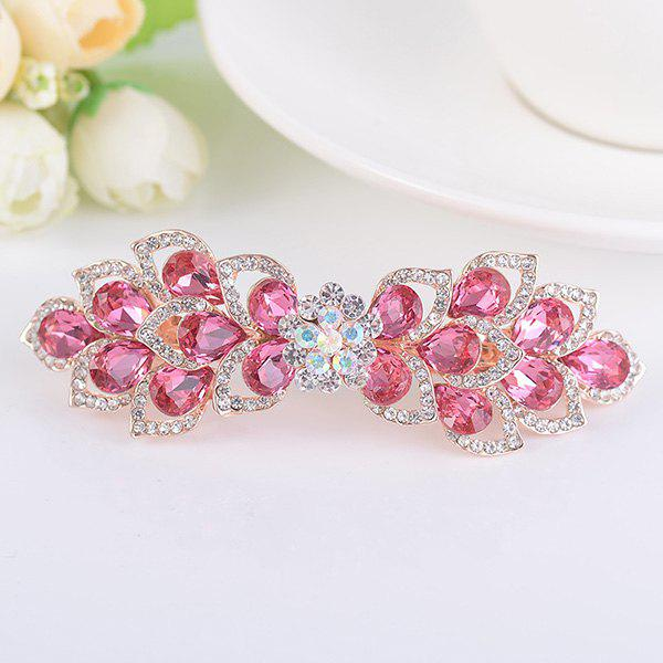 Rinestone Inlay Hollow Out Flower Shape Barrette - Frutti de Tutti