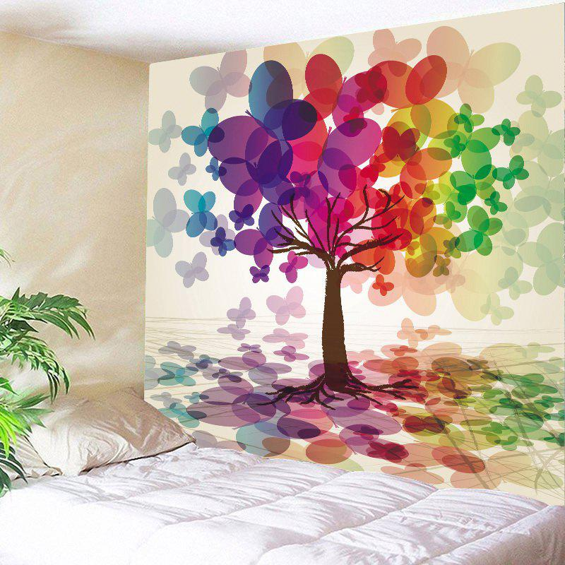 Colorful Butterfly Tree Home Decor Hanging Wall Tapestry butterfly print home decor wall hanging tapestry