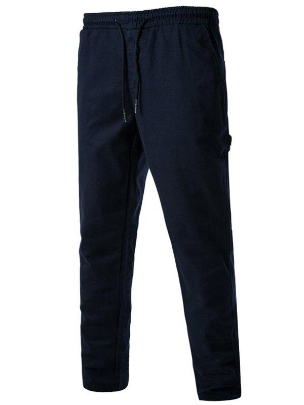 Side Pockets Drawstring Harem Pants - CADETBLUE 3XL