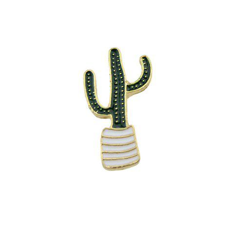 Cactus Cute Tiny Brooch - GREEN