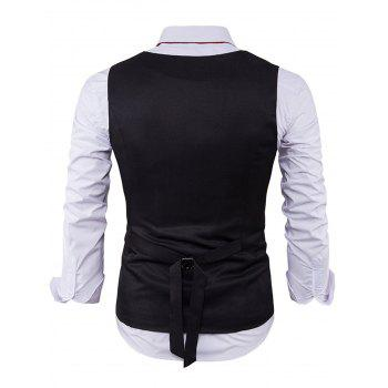 Color Block Edging Single Breasted Waistcoat - M M