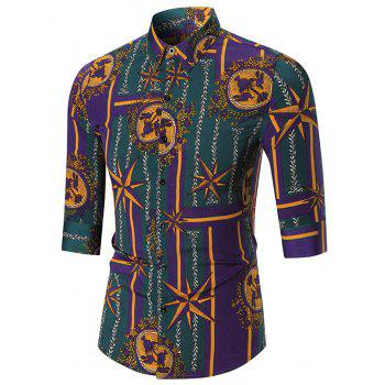 Allover Printed Button Up Shirt