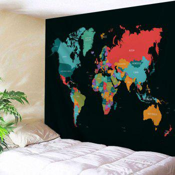 World Map Print Tapestry Wall Hanging Decor