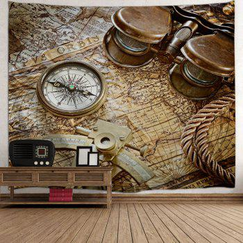 Carte Récompense Carte Impression Tapisserie Mur Suspension Art - Brun W71 INCH * L91 INCH