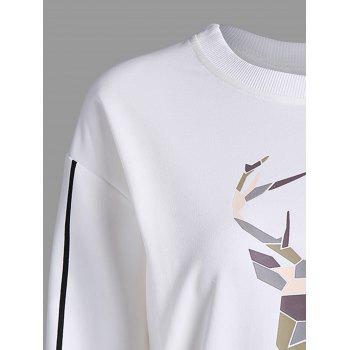 Printed Drop Shoulder Long Sleeve Sweatshirt - 2XL 2XL
