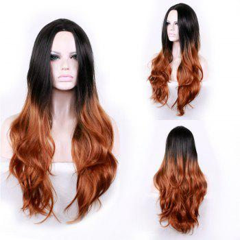 Middle Part Long Layered Wavy Ombre Synthetic Wig - COLORMIX COLORMIX