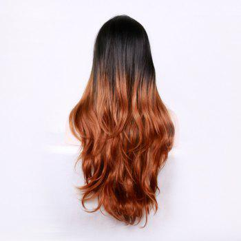 Middle Part Long Layered Wavy Ombre Synthetic Wig -  COLORMIX