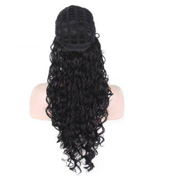 Fluffy Long Afro Little Curly Synthetic Wig -  BLACK
