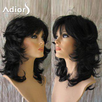 Adiors Medium Inclined Bang Fluffy Anti-Alice Straight Synthetic Wig