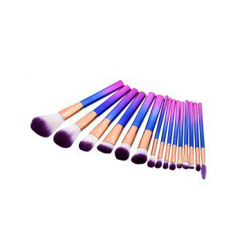 Glitter Cylinder Handle Makeup Brushes Set
