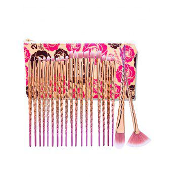 Ombre Unicorn Eye Makeup Brushes Set With Rose Bag