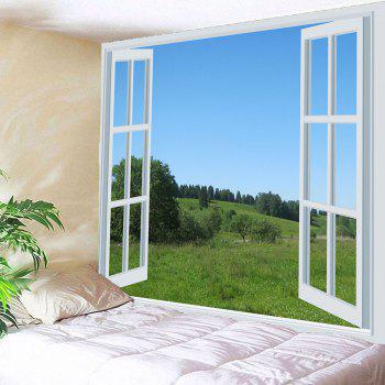 Waterproof 3D Scenery Outside Window Printed Wall Tapestry - W79 INCH * L79 INCH W79 INCH * L79 INCH