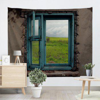Vintage Window View Wall Hanging Tapestry - COLORMIX COLORMIX