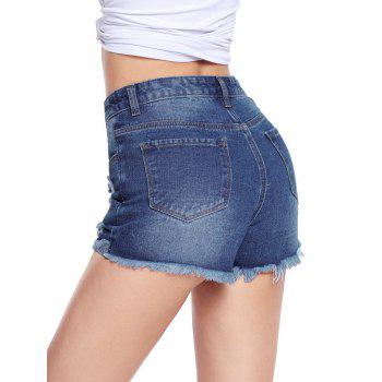 Cut Off Distressed Jean Shorts - M M