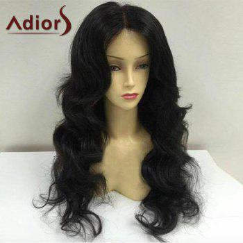 Adiors Fluffy Long Center Parting Body Wave Synthetic Wig