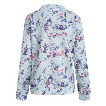 Long Sleeve Floral Jacket - L L