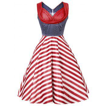 Stars and Stripes Print Vintage Dress