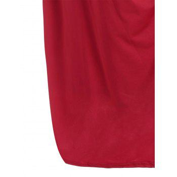 Robe fini au genou taille grand - Rouge 2XL
