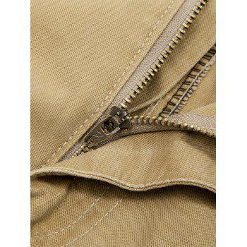 Zipper Fly String Pocket Cargo Pants - 36 36