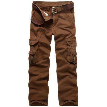 Zipper Fly String Pocket Cargo Pants