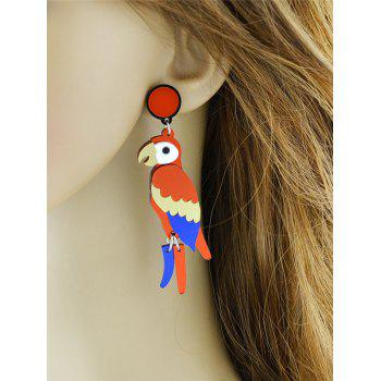 Parrot Bird Drop Earrings - multicolorcolore