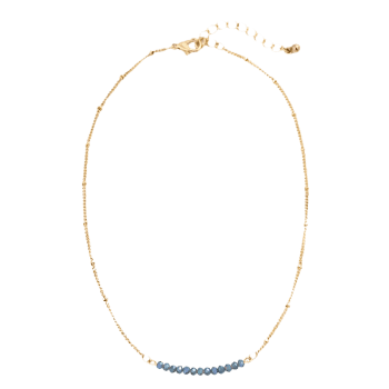 Collarbone Beaded Chain Necklace - COLORMIX