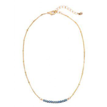 Collarbone Beaded Chain Necklace - COLORMIX COLORMIX