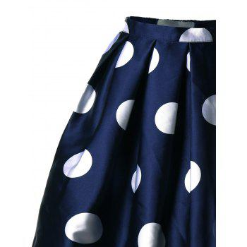 Polka Dot Mini A Line Skirt - L L