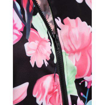 Full Zip Floral Jacket - M M