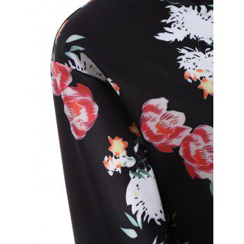 Long Sleeve Zip Up Floral Jacket - XL XL