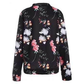 Long Sleeve Zip Up Floral Jacket - 2XL 2XL
