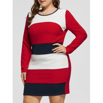 Plus Size Long Sleeve Pencil Dress