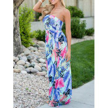Strapless Tube Maxi Evening Dress