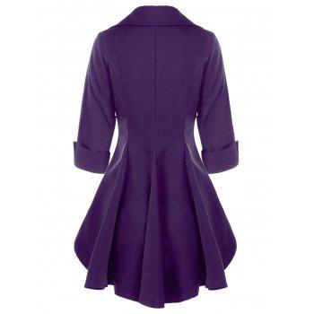 Double Breasted Short Flare Trench Coat - 2XL 2XL