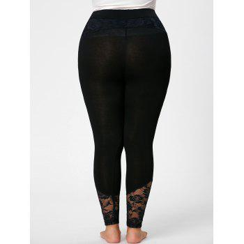 Plus Size Lace Insert Skinny Pants - XL XL