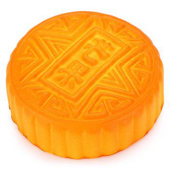 Simulation Mooncake PU Squishy Toy -  DARK AUBURN