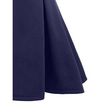 Open Back Sleeveless A Line Dress - PURPLISH BLUE L