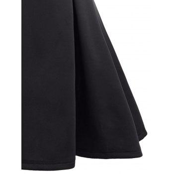 Open Back Sleeveless A Line Dress - BLACK S