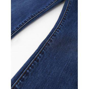 Five Pockets Plus Size Straight Jeans - DENIM BLUE XL