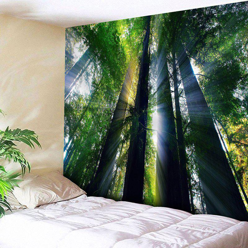Wall Hanging Sunshine Forest Printed Tapestry fog forest printed wall hanging tapestry