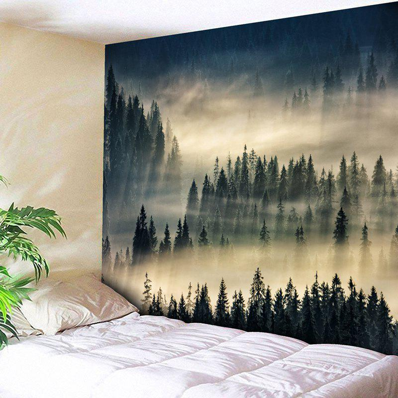 Wall Art Decor Fog Forest Printed Tapestry mew forest heart printed room decor wall sticker