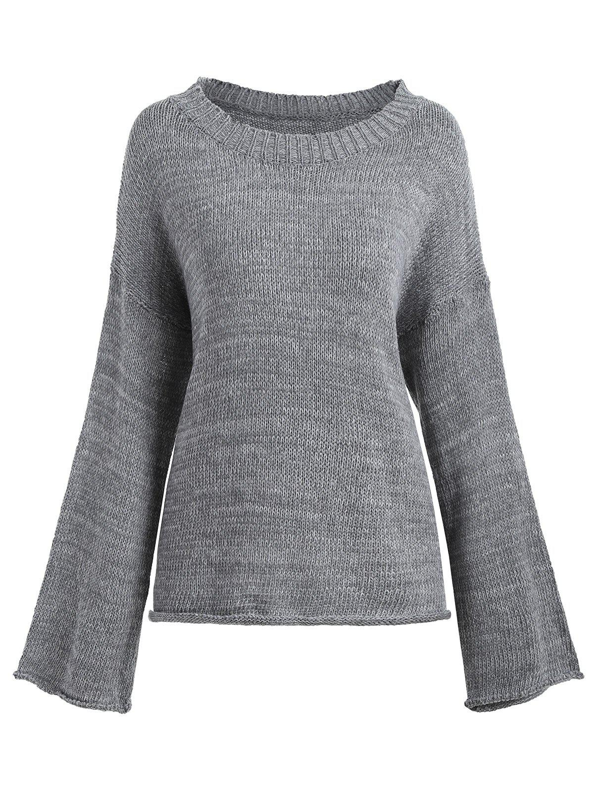 Pull à manches longues - Gris ONE SIZE