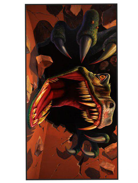 Tyrannosaurus Printed Soft Fabric Bath Towel - BURNT ORANGE W15.5 INCH * L67 INCH