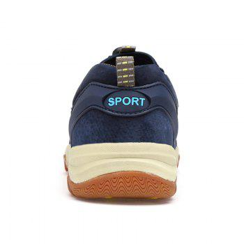 Color Block Sports Letter Casual Shoes - BLUE 43